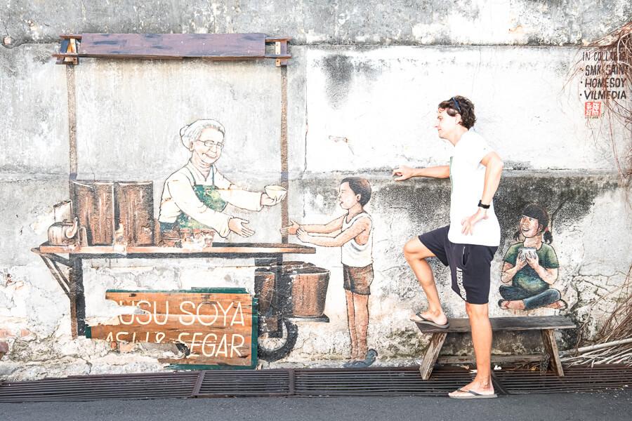 Street Art sport Ries George Town Malaysia
