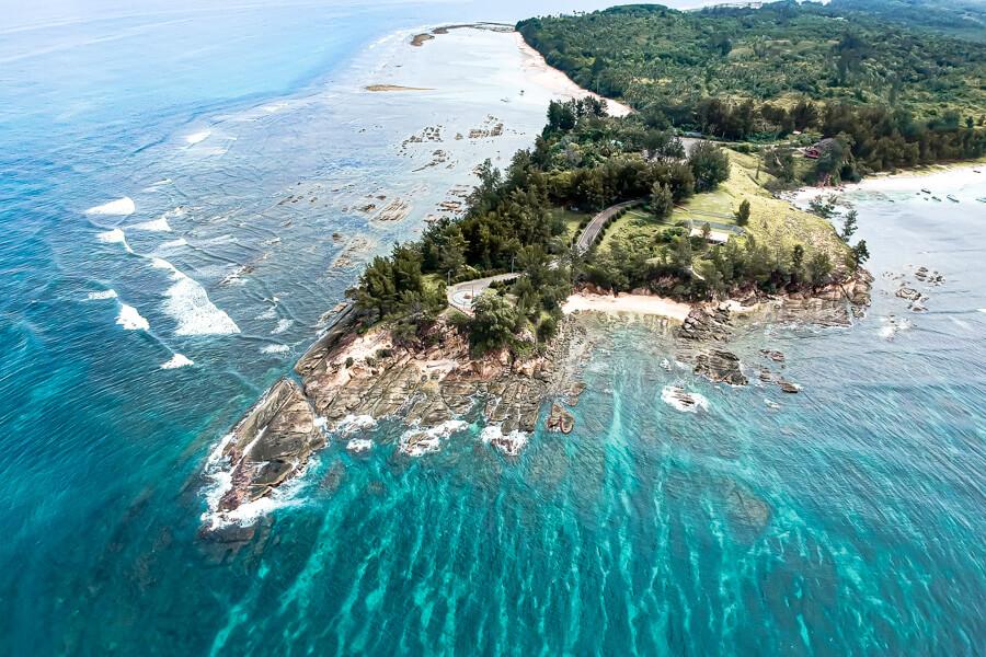 Tip of Borneo drone Sabah Malaysia
