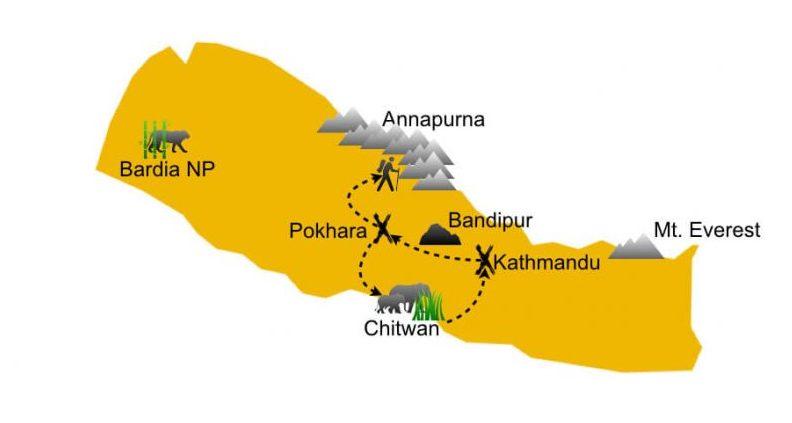 Travel itinerary & accommodation guide Nepal
