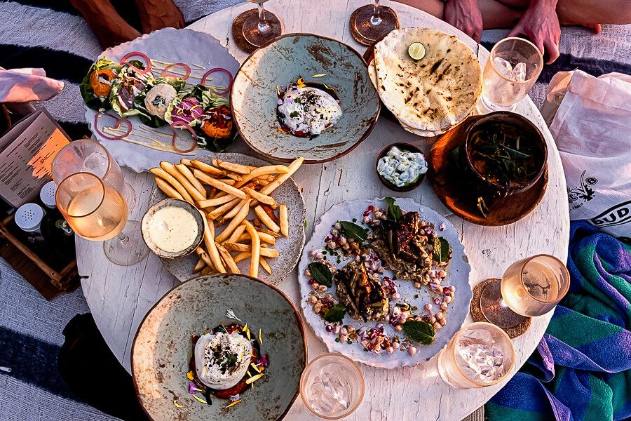 Food at Labrisa the boat Canggu Bali