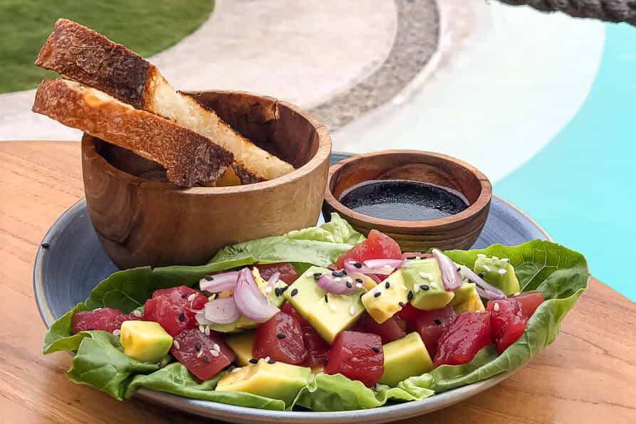 Tuna salad at Alternative beach Canggu Bali