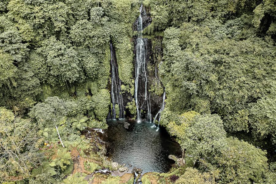 Twin waterfalls Bali Indonesia
