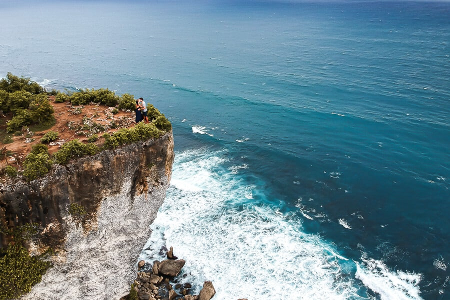 Uluwatu cliff droneshot travel guide Bali