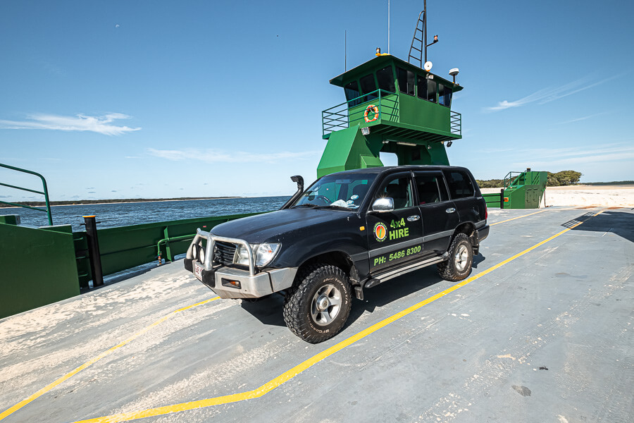 4x4 hire and Ferry from Inskip
