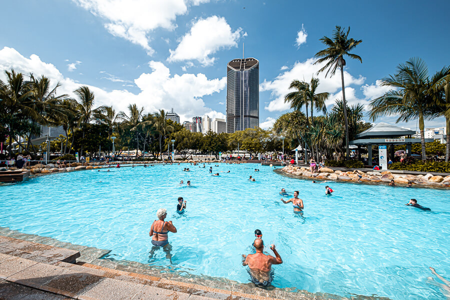Travel Guide Brisbane South Bank Beach