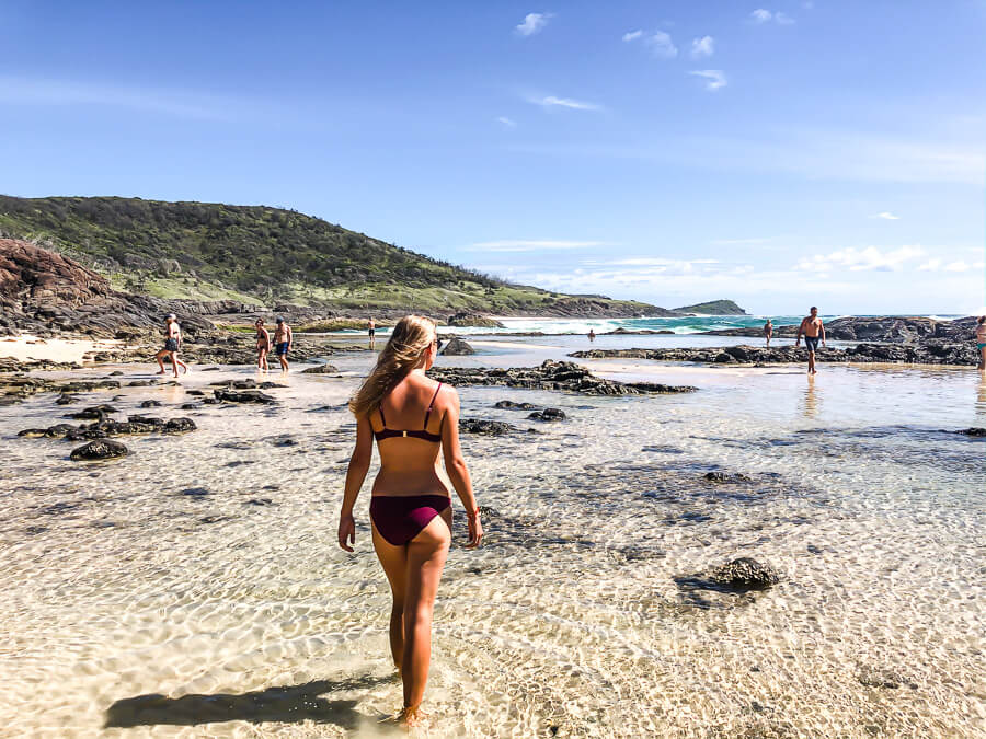 Travel Guide Fraser Island Champagne pools