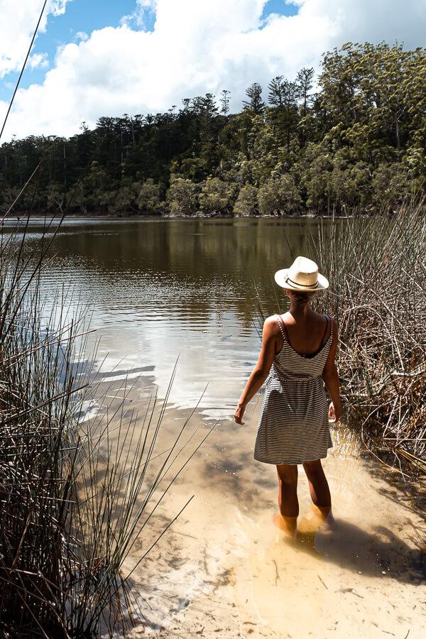 Travel Guide Fraser Island Lake Allom