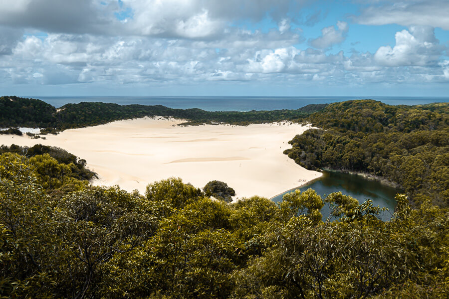 Travel Guide Fraser Island Lake Wabby