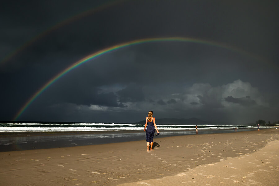 Travel blog Byron Bay double rainbow Australia