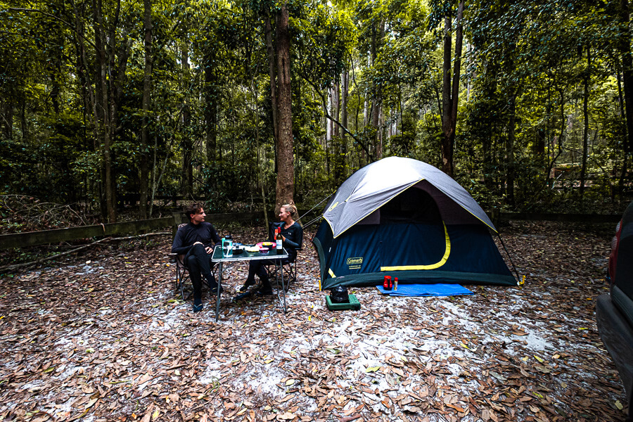 Travel guide Fraser Island camping life