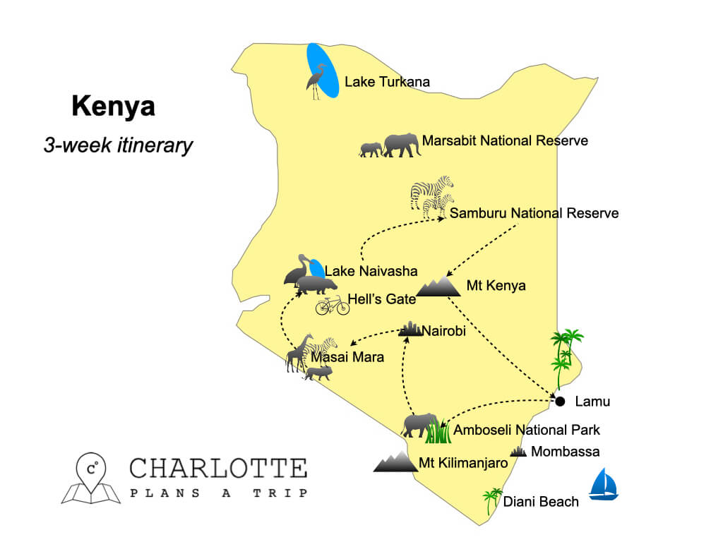 3 week itinerary Kenya