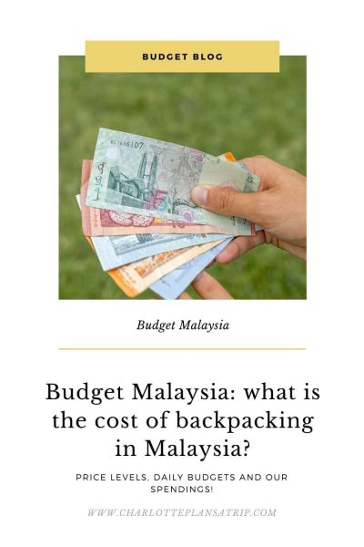 Budget blog Malaysia: spendings, daily budget, and what a holiday to Malaysia costs