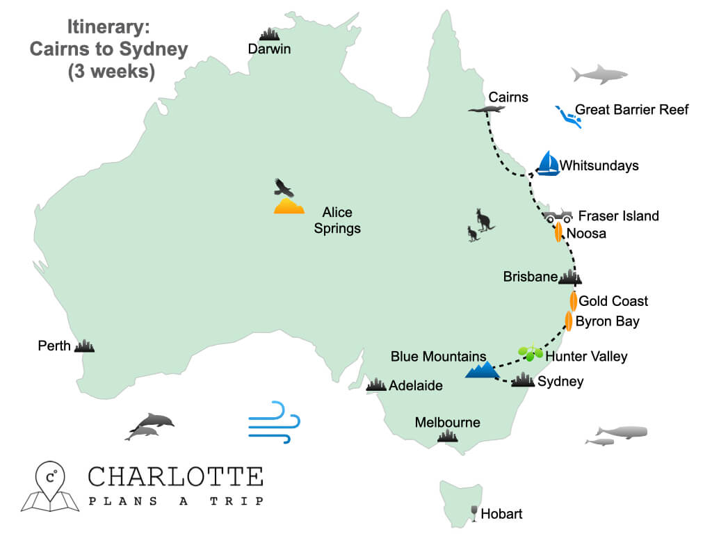 East Coast Australia Itinerary Cairns to Sydney in 3 weeks.001