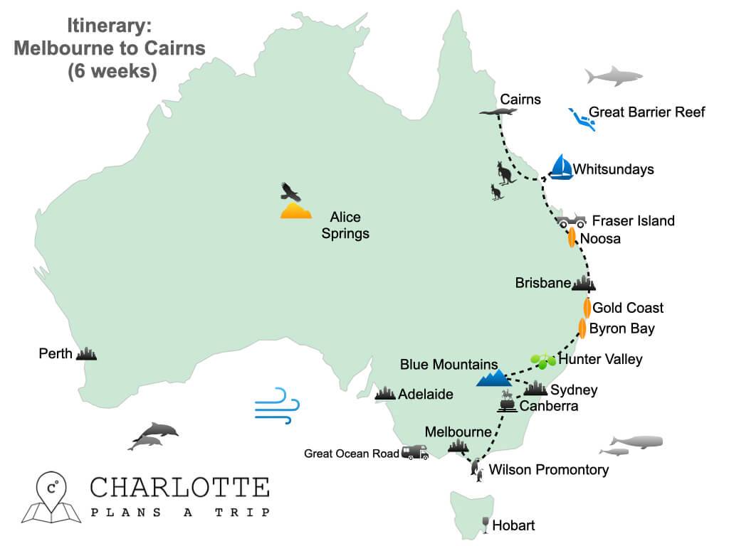 East Coast Australia itinerary Melbourne to Cairns in 6 weeks.001
