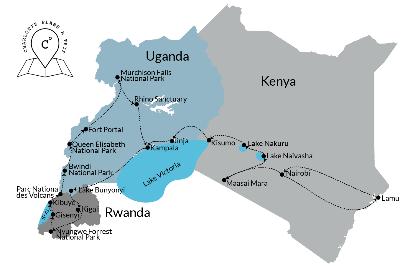 Itinerary East Africa Best road trip of Kenya Uganda and Rwanda