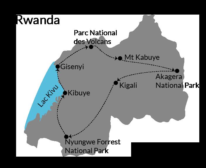 Itinerary Rwanda self drive road trip