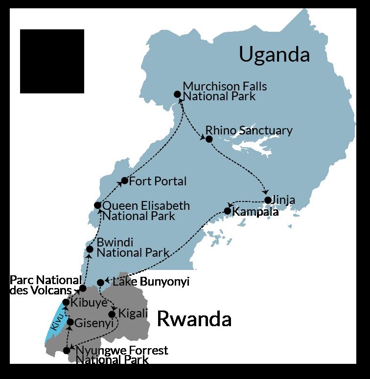 Itinerary Uganda and Rwanda road trip