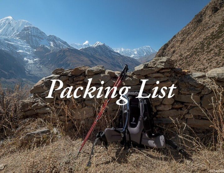 Annapurna Circuit Packing list: What to pack for a trek in the Himalaya of Nepal?