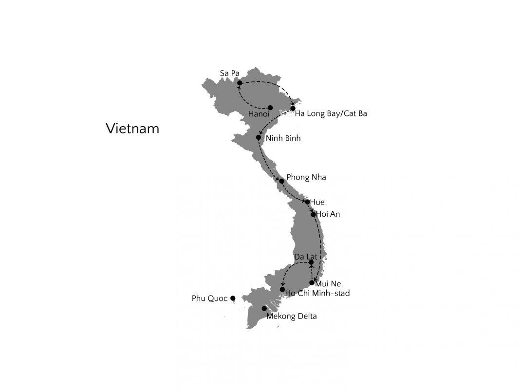 vietnam 4 weken route 01