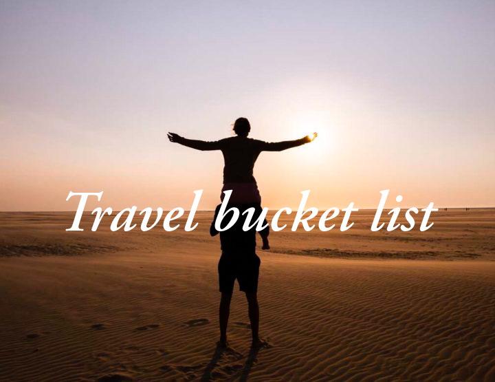 Mijn reisbucketlist