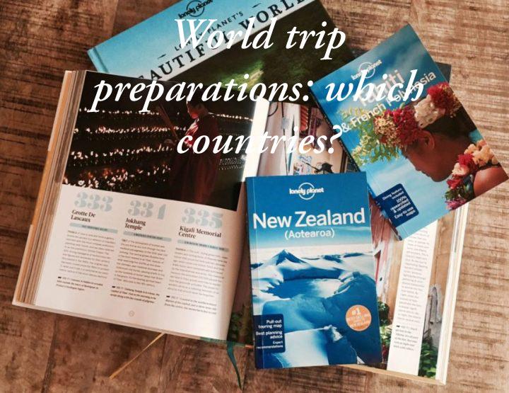 Wereldreis voorbereiden | Het maken van een reisroute per land
