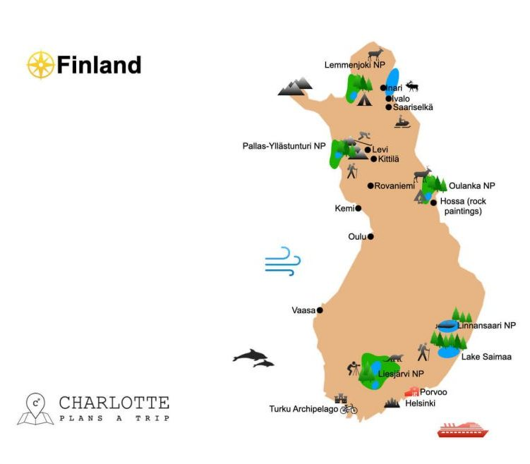 Highlights and top attractions of Finland Charlotte Plans a Trip
