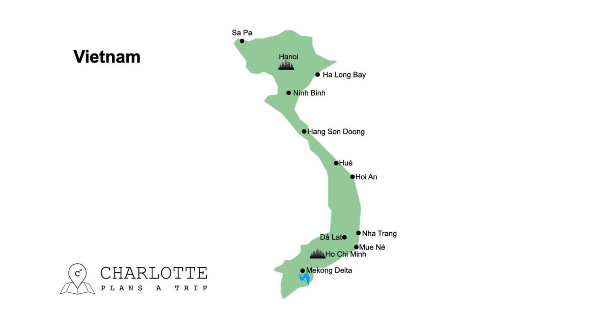 Map of Vietnam top attractions and highlights Charlotte Plans a Trip