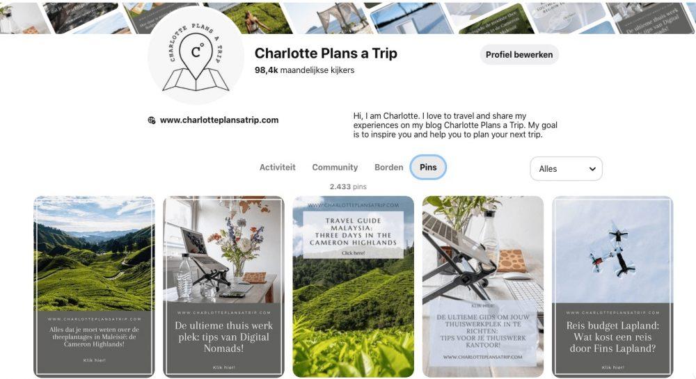 Pinterest Charlotte Plans a Trip