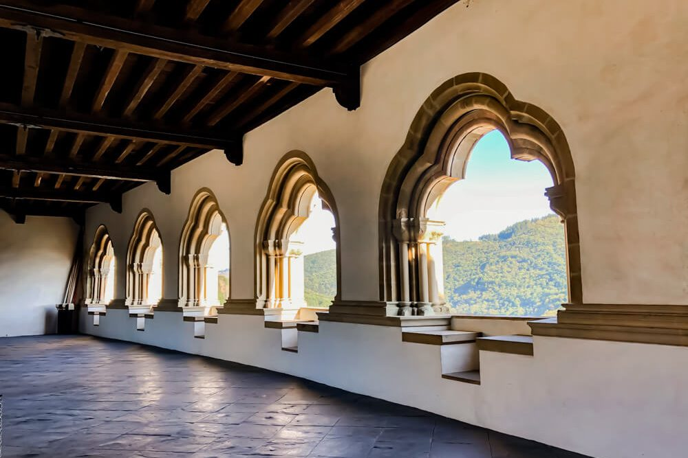 Architecture windows castle of Vianden Luxembourg