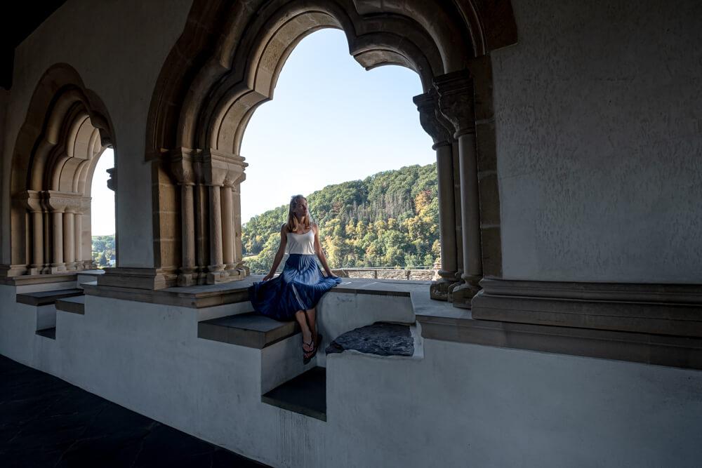 Castle of Vianden windows Luxembourg
