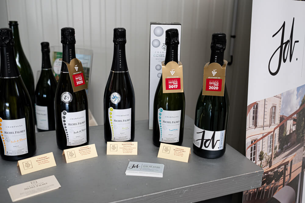 Champagne bottles of Michel Falmet France