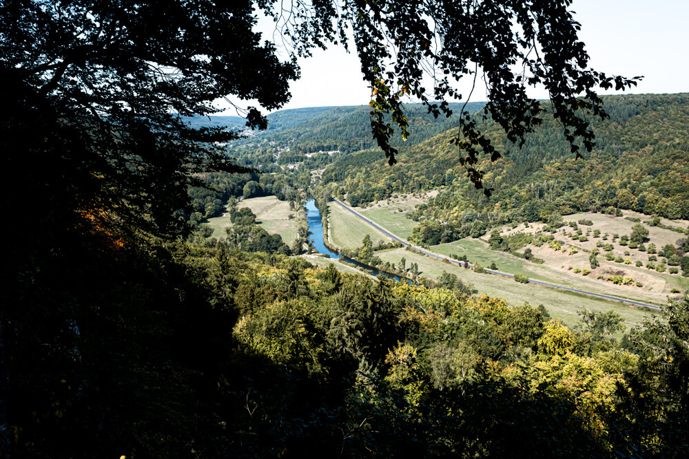 Hiking in Luxembourg Mullerthal Trail viewpoint