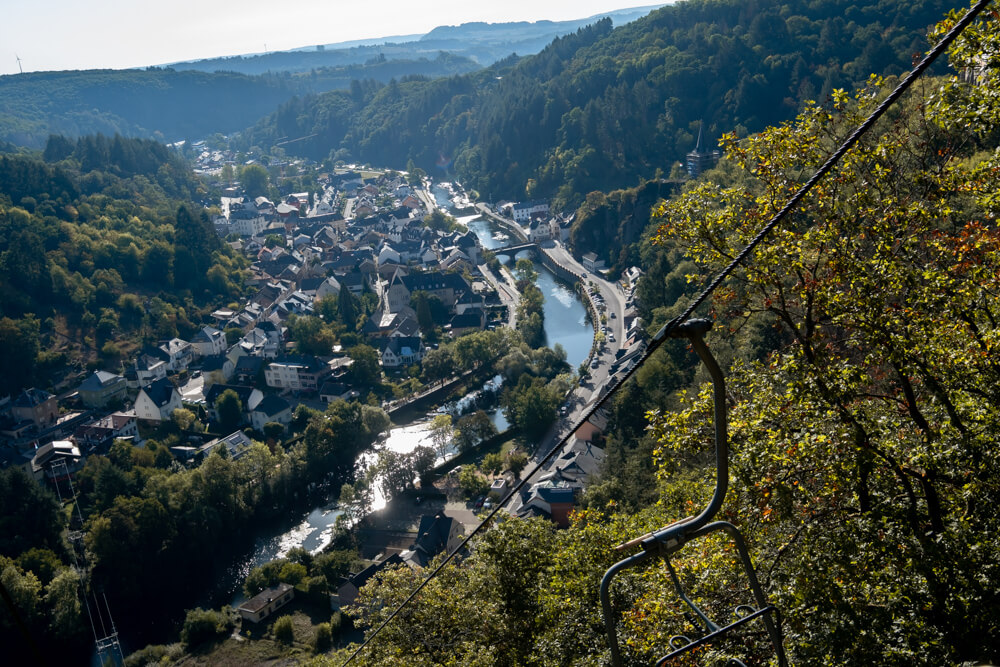 Hiking in Vianden Cable car Luxembourg