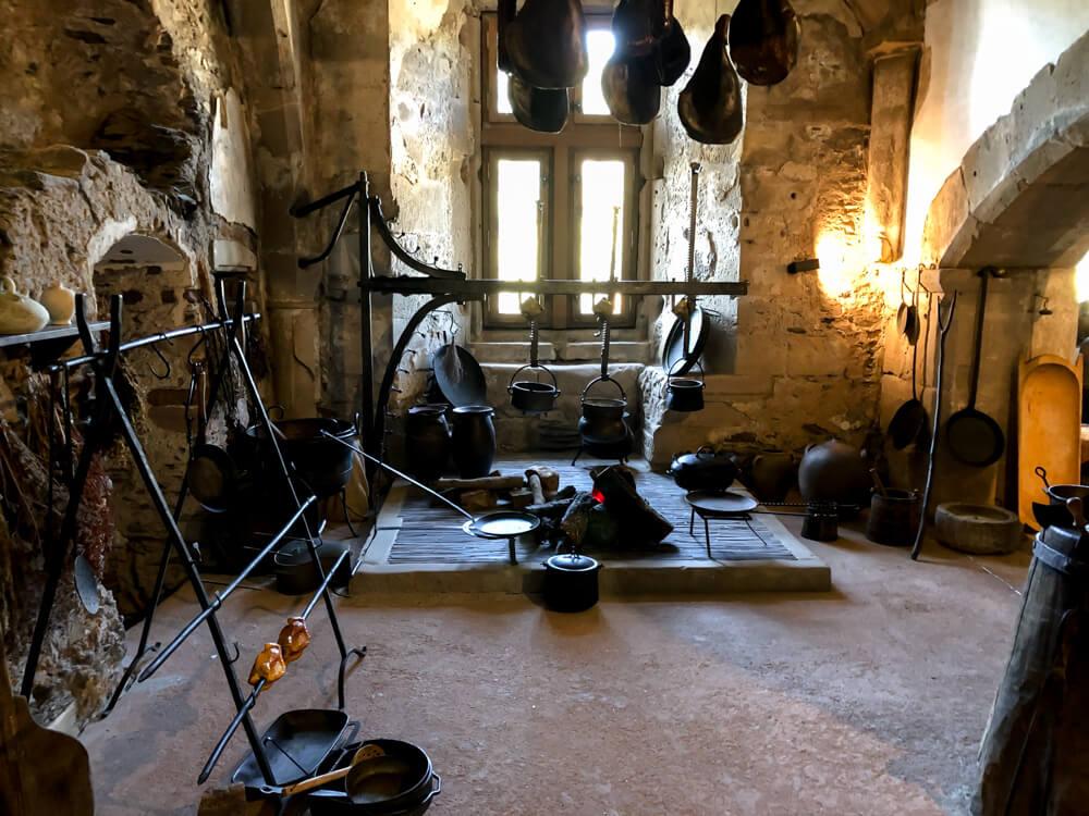 Kitchen of Castle Vianden Luxembourg