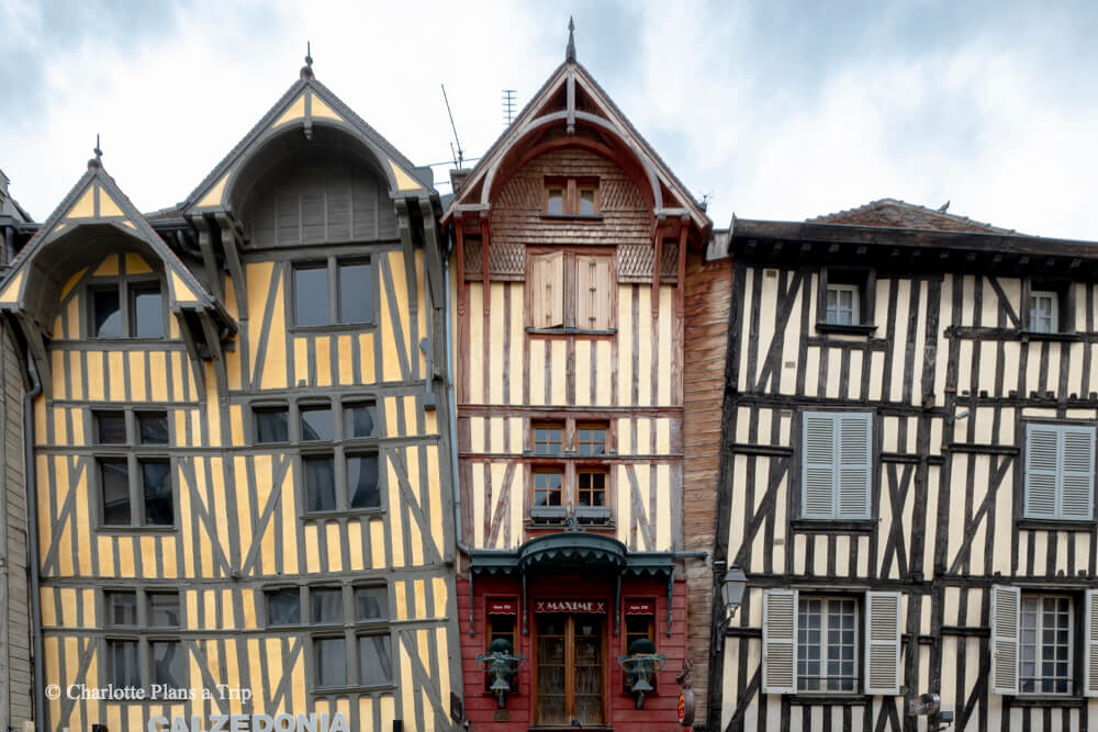 Traditional houses of Troyes France Travel Guide