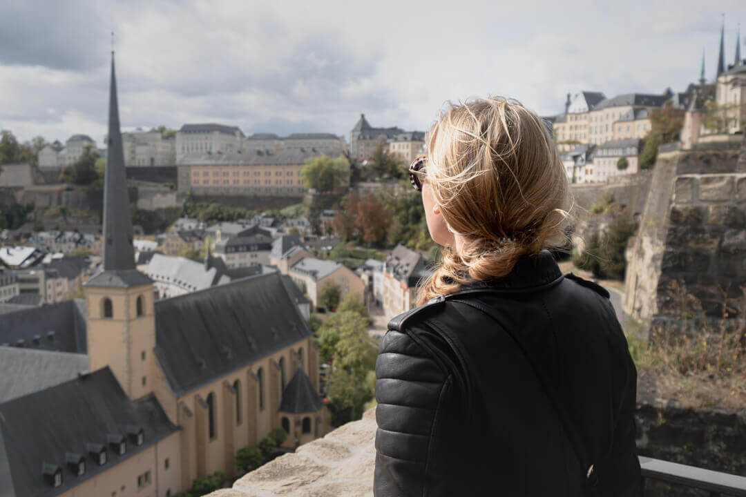 Charlotte visiting Luxembourg city Luxembourg