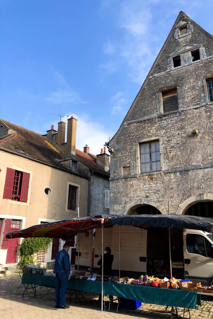 Market at Noyers Burgundy France