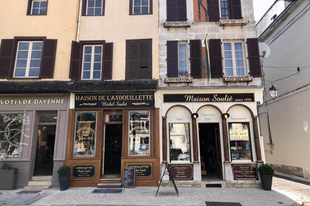 Shops et maisons de Chablis Burgundy France