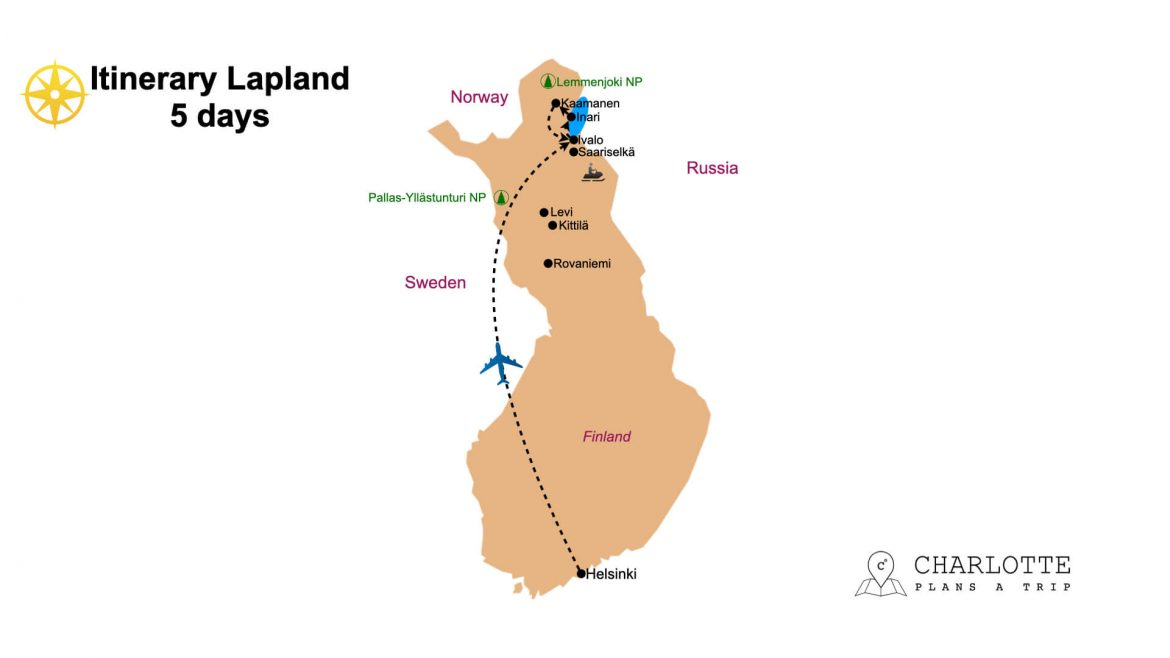 Itinerary Finnish Lapland in 5 days