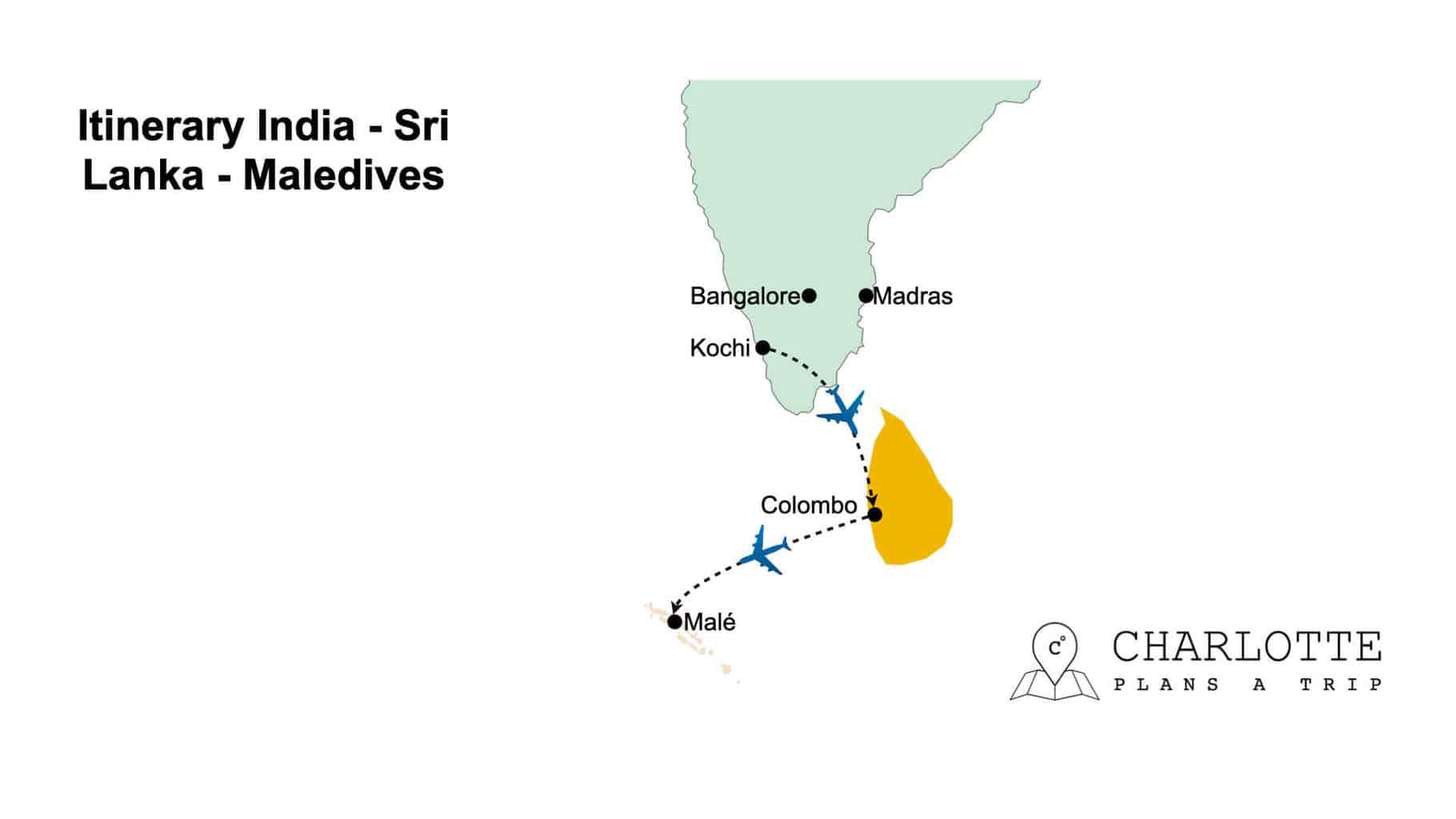 Itinerary Sri Lanka India Maledives