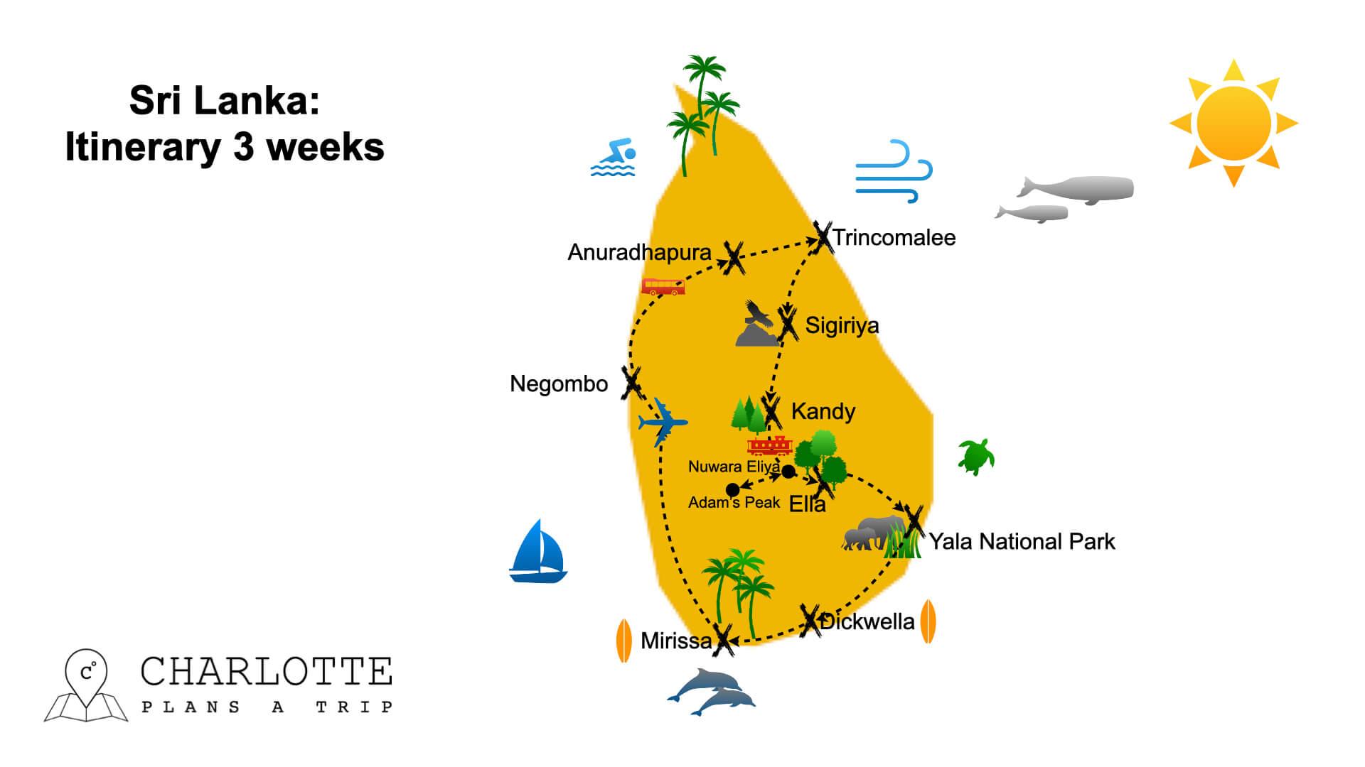 Sri Lanka itinerary 3 weeks Visit Sri Lanka