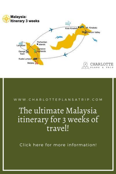 itinerary 3 weeks Malaysia 1 1