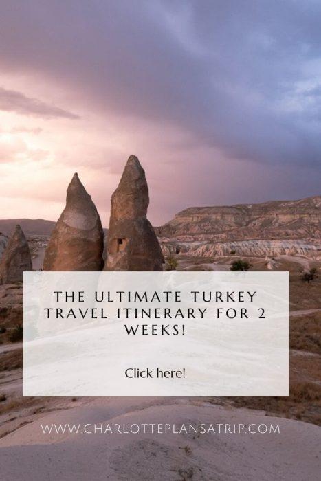 Turkey travel itinerary